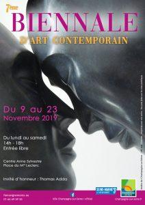 Affiche 7e Biennale d'Art Contemporain de Champagne-Sur-Seine