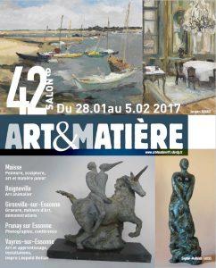 Affiche 42e Salon Art&Matière 2017