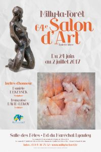 affiche_salon d'art Milly-la-Forêt_2017